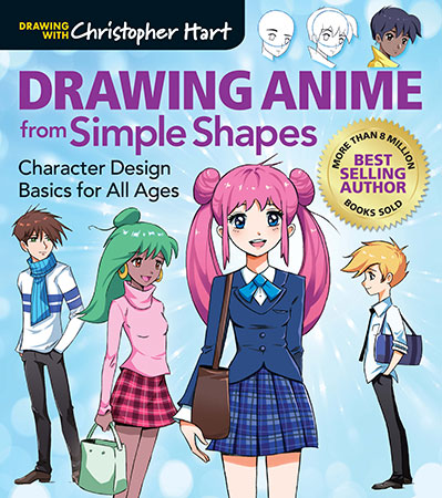 Drawing Anime from Simple Shapes: Character Design Basics