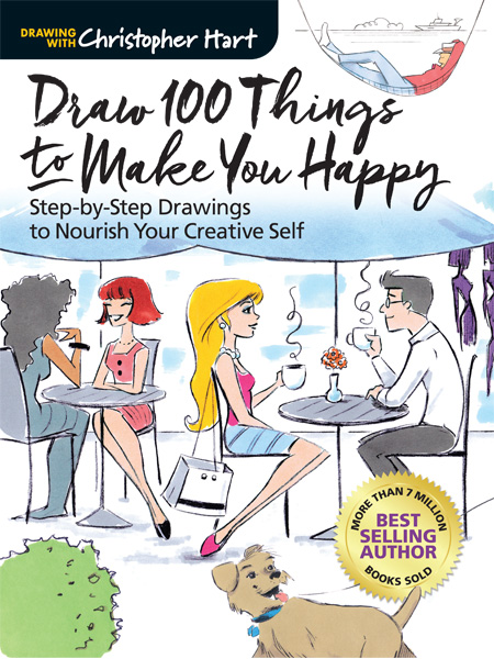 Draw 100 Things to Make You Happy: Step-by- Step Drawings to Nou