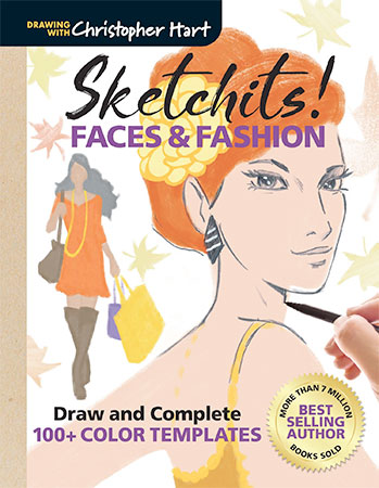 Sketchits! Faces & Fashion: Draw & Complete 100+ Color Templates